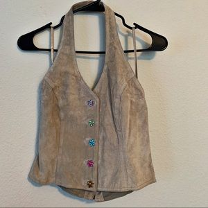 Wilsons Leather Halter Festival Top Rhinestone